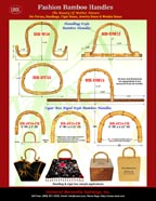 Stylish Bamboo Handles For Fashion Purses, Handbags, Cigar Boxes, Jewelry Boxes