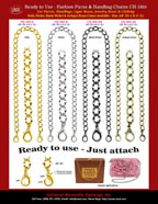 Handbag Chains: Metal Straps: Gold, Antique Brass, Nickel and Black Nickel Chain Series.