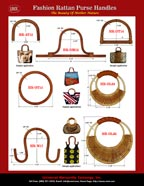 Stylish Fashion Purse and Handbag Hardware - Rattan Handles