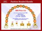 Beaded Purse Handles HH-P4xx-122 For Wedding Purses