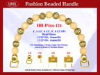 Beaded Purse Handles HH-P4xx-124 For Lady Purses