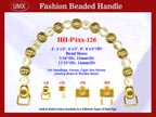 Beaded Purse Handles HH-P4xx-126 For Vintage Purses