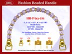Beaded Purse Handles HH-p4xx-194 For Vintage Purses