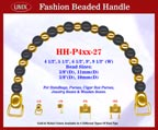 HH-P4xx-27 Stylish Wood Jewelry Box Beaded Purse Handle
