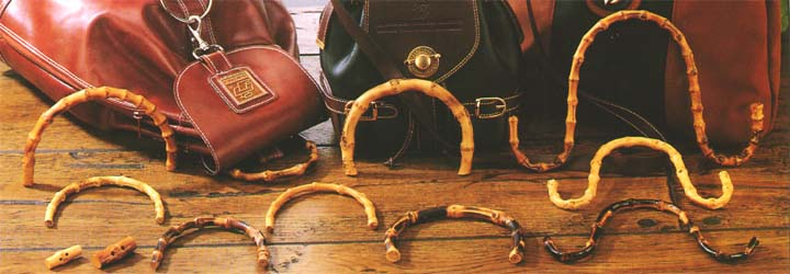 Sample 3 - the beauty of nature - bamboo handle for fashion handbag: handles, bamboo handles, handbag handles, fashion handles