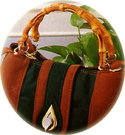 Sample 1 - the beauty of nature - bamboo handle for fashion handbag: handles, bamboo handles, handbag handles, fashion handles