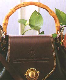 Sample 2 - the beauty of nature - bamboo handle for fashion handbag: handles, bamboo handles, handbag handles, fashion handles