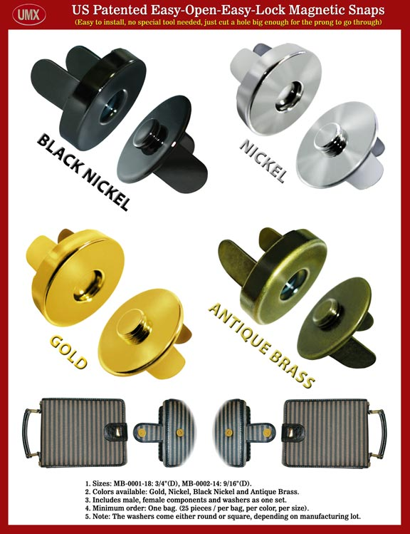 Magnetic Buttons, Magnetic Snaps, Magnetic Fastener