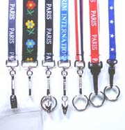 sample custom logo lanyards