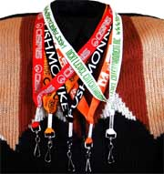 one 1 inch big logo lanyards