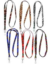 custom color pattern lanyards)