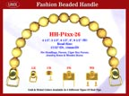 HH-P4xx-26 Stylish Wood Jewelry Box Wooden Bead Handle