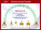HH-P4xxG-30 Purse Handle & Handbag Handle Hardware Accessories with Hooks